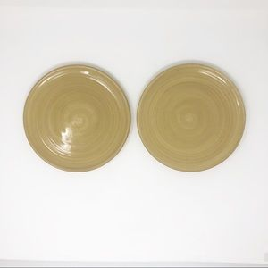 Hand painted Handcrafted Stoneware Set of 2 Plates